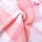 棉麻布料经典格子布小清新欧美风桌布抱枕家纺布料亚麻布服装面料