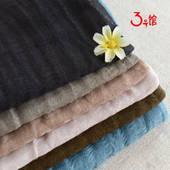 厂家直销 棉麻网纱布料 连衣裙围巾超薄柔软舒适透气春夏面料