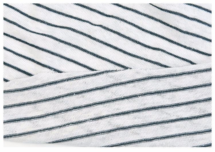 针织麻棉间条服装面料