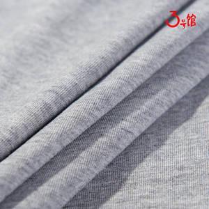 40s纯棉食毛拉架汗布 童装家居服布料弹力针织T恤纯棉面料