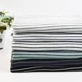 针织麻棉间条 时尚细条纹  小清新风 夏季T恤服装面料