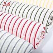 针织亚麻条纹 T恤长裙长款外套服装布料 亚麻间条布 厂家直销现货