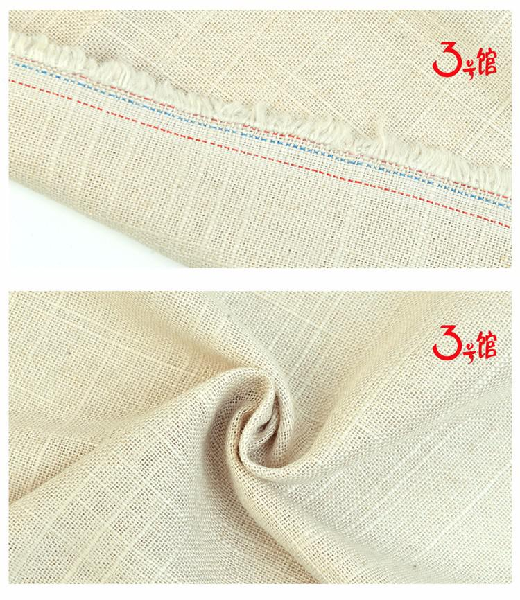 竹节亚麻布料衬衫裤子服装面料棉麻布diy抱枕灯罩布桌布纱发布料