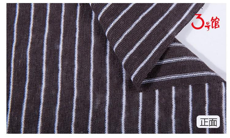 棉麻色织条纹布料时尚休闲间条T恤服装面料亚麻布针织条纹面料