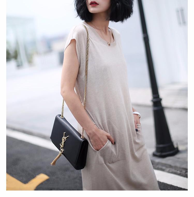 天丝羊绒布料不易起球高档保暖弹力针织面料连衣裙开衫服装布料