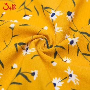 印花雪纺布料夏季微透连衣裙服装面料厚碎花巴黎珠雪纺泡泡纱布料